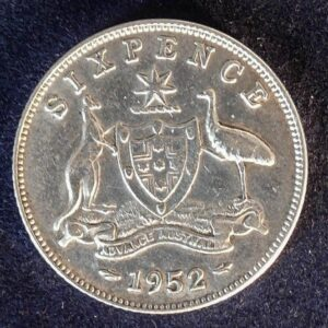 1952 Australia Sixpence - King George VI