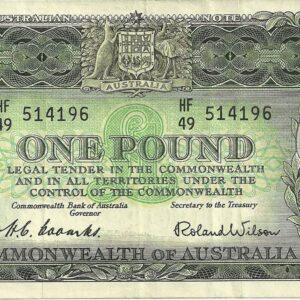 1953 Australia One Pound - HF49
