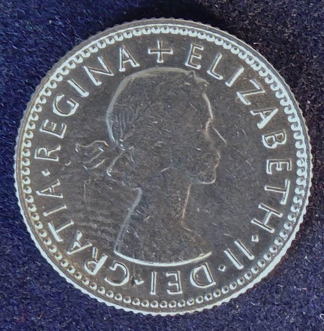 1953 Australia Sixpence - Queen Elizabeth II