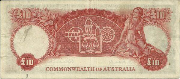 1954 Australia Ten Pounds WA00
