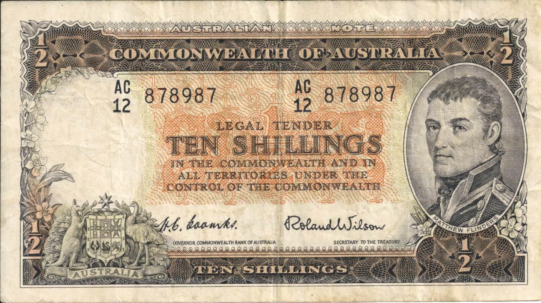 1954 Australia Ten Shillings - AC12