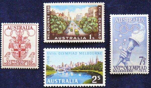 1956 Australia Post Melbourne Olympics MNH Set