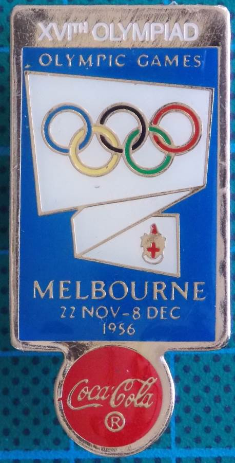 1956 Melbourne Summer XVI Olympiad Good Condition Lapel Pin