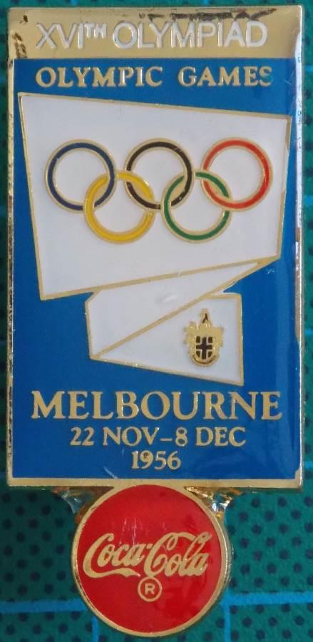 1956 Melbourne Summer XVI Olympiad Near New Lapel Pin