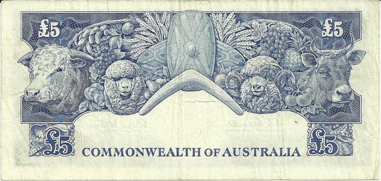 1960 Australia Five Pounds - TC 87
