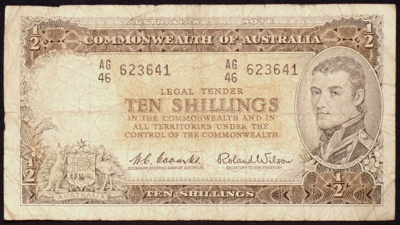 1961 Australia Ten Shillings - AG46