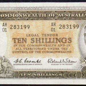 1961 Australia Ten Shillings - AH01