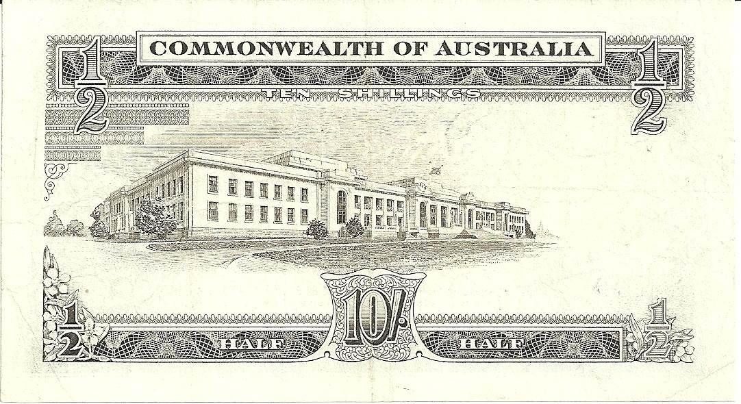 1961 Australia Ten Shillings - AH01