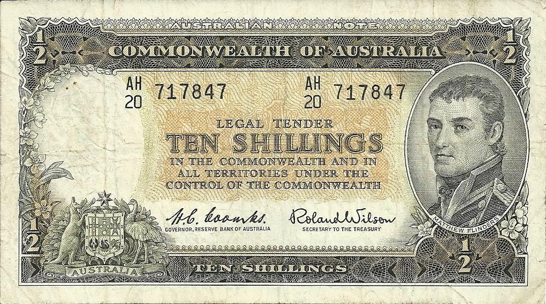 1961 Australia Ten Shillings - AH20