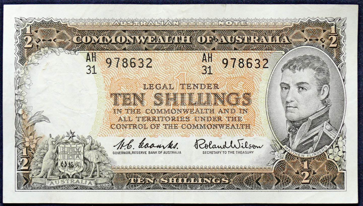 1961 Australia Ten Shillings - AH31