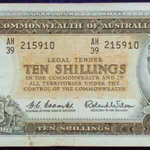 1961 Australia Ten Shillings - AH39