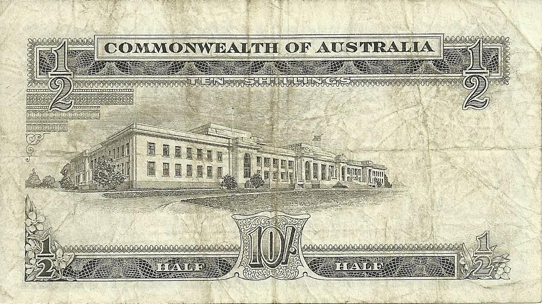 1961 Australia Ten Shillings - AH43