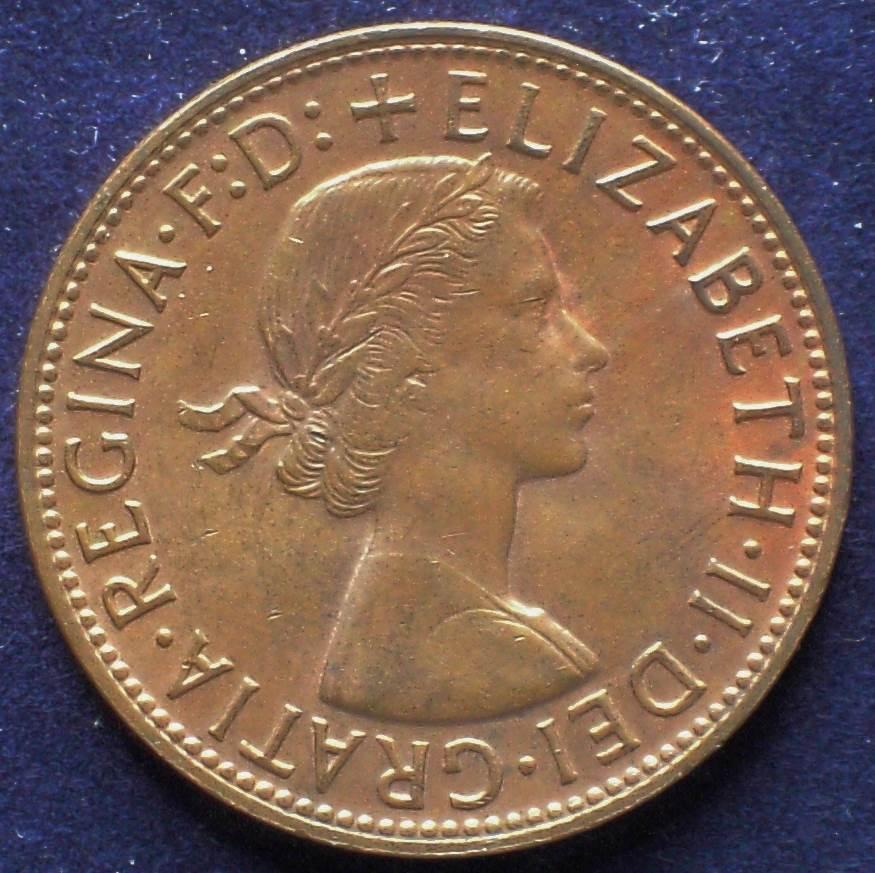 1962 Australia One Penny - Queen Elizabeth II