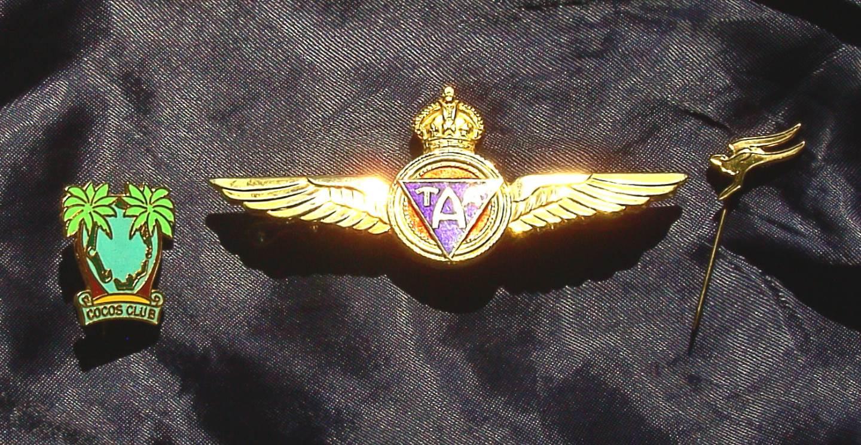 1964 Trans Australia Airlines TAA Pilots Wings / Lapel Pins
