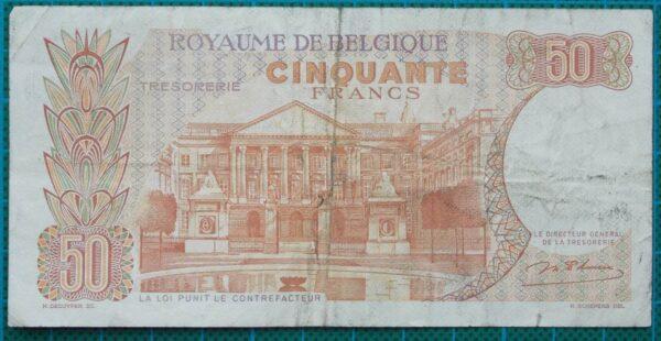 1966 Belgium 50 Francs Banknote 076971766