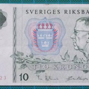 1966 Sweden Sveriges Riksbank 10 Kronor B515423