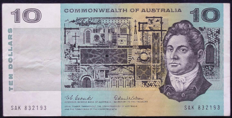1966 Australia Ten Dollars - SAK