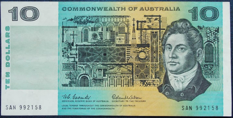 1966 Australia Ten Dollars - SAN