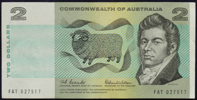 1966 Australia Two Dollars - FAT