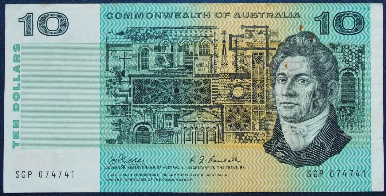 1968 Australia Ten Dollars - SGP
