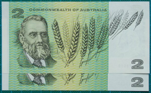 1968 Commonwealth of Australia Two Dollars Pair GQT