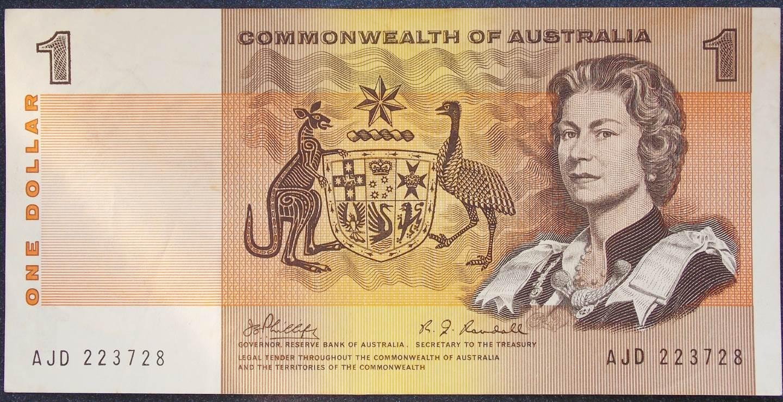 1969 Australia One Dollar Note - AJD