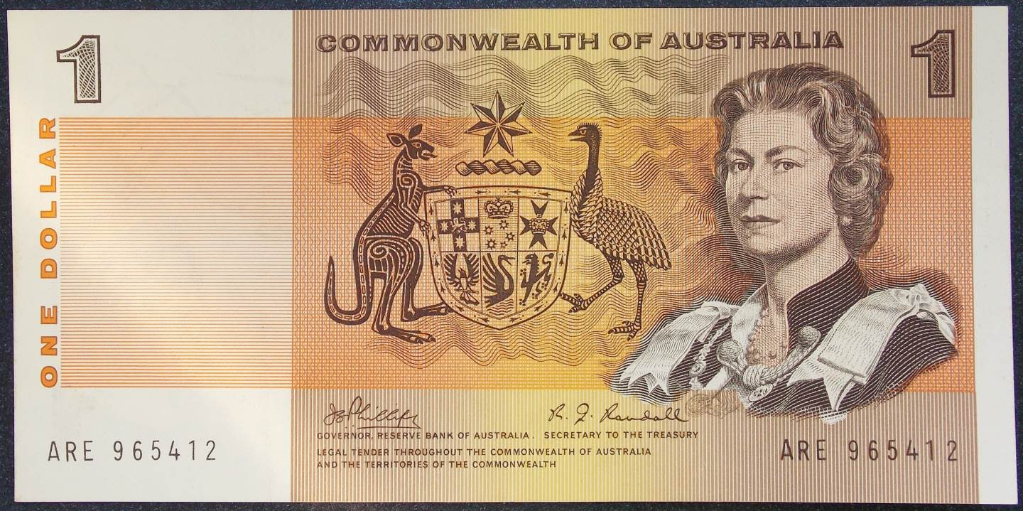 1969 Australia One Dollar Note - ARE