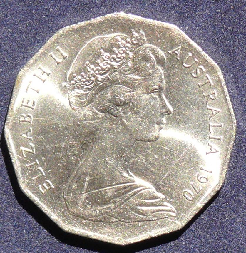 1970 Bicentenary Captain James Cook  50 Cents Coin
