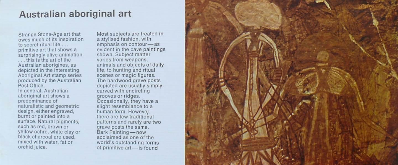 1971 Australia Post Stamp Pack - Aboriginal Art