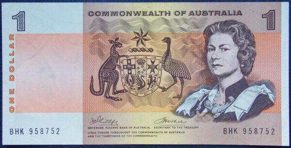 1972 Australia One Dollar Note - BHK