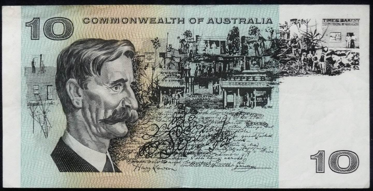 1972 Australia Ten Dollars - TAQ