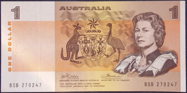 1974 Australia One Dollar Note - BSB