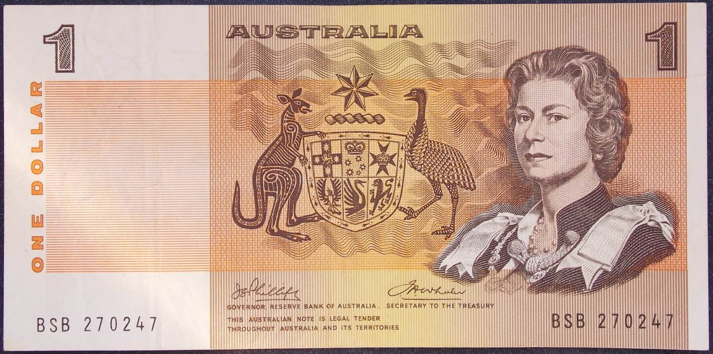 1974 Australia One Dollar Note - BSB