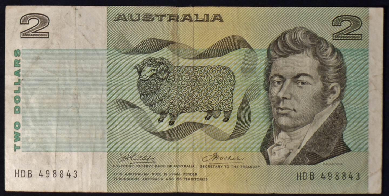 1974 Australia Two Dollars - HDB