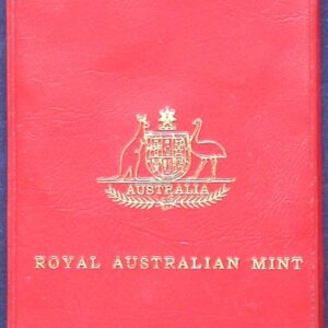 1975 Royal Australian Mint Red Wallet Coin Set