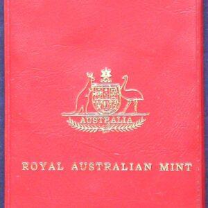 1975 Royal Australian Mint Red Wallet Coin Set
