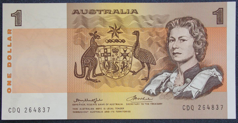 1976 Australia One Dollar Notes x 2 - CDQ
