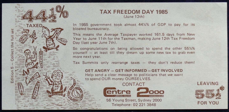 1977 Australian Taxtralia Dollar Note