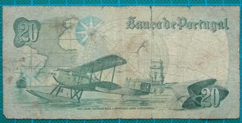 1978 Portugal 20 Escudos Banknote ST011195