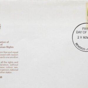1978 Australia Post FDC - 30th Anniv. Universal Human Rights