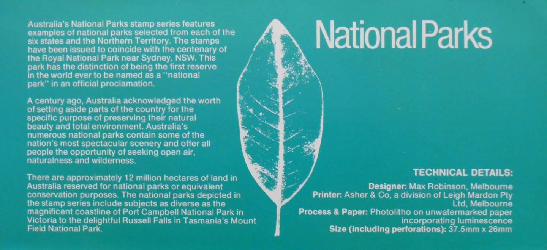 1979 Australia Post Stamp Pack - National Parks