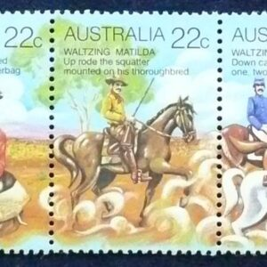1980 Australia Post - Australian Folklore Gutter Strip