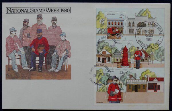 1980 Australia Post FDC - National Stamp Week