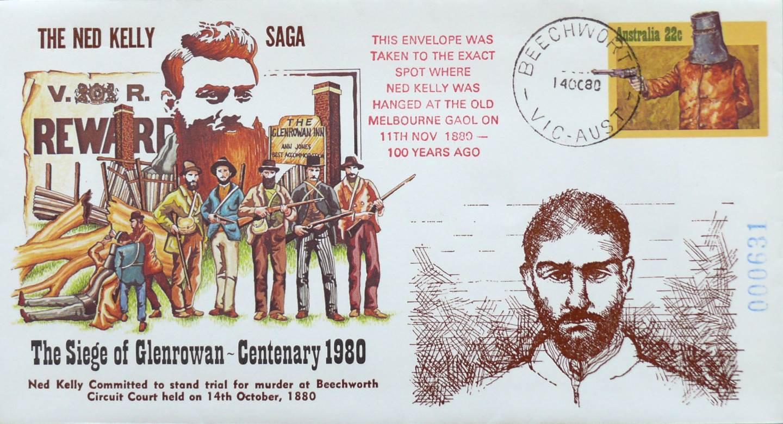 1980 Australia Post FDC - Ned Kelly Centenary - Full Set of 10