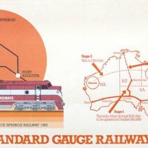 1980 Australia Post FDC - Perth Standard Gauge Railway Society