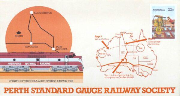 1980 Australia Post FDC - Perth Standard Gauge Railway Society