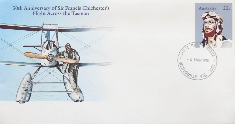 1981 Australia Post FDC - Francis Chichester Tasman Flight