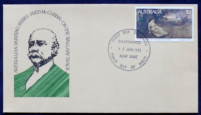 1981 Australia Post FDC - Fred McCubbin
