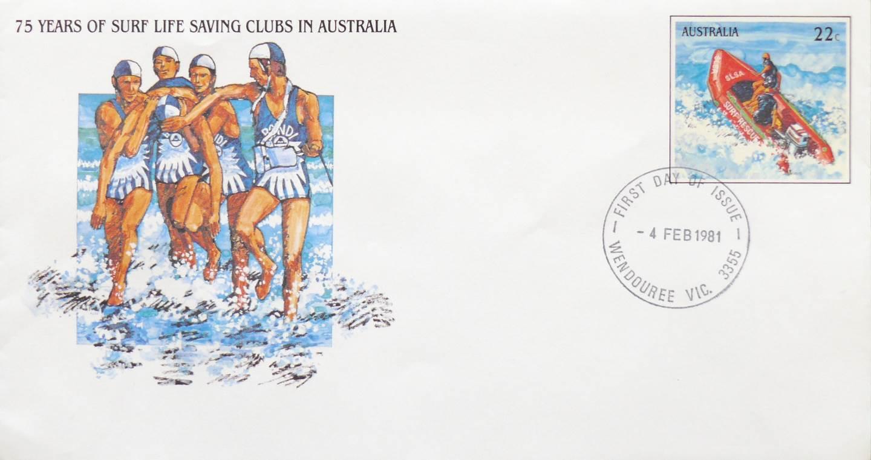 1981 Australia Post FDC - Surf Lifesaving
