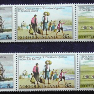1981 Australia Post Territories - Norfolk Island - 2 MUH Strips